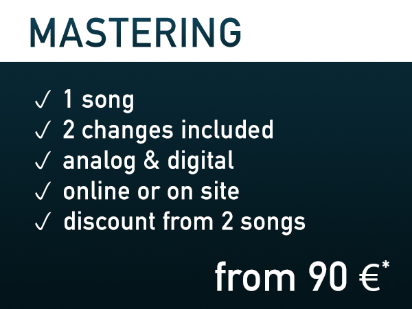 'Mastering ~ from 90€*