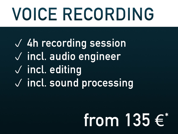 Voice Recording ~ from 135€*